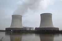 - Saint-Laurent des Eaux nuclear power station on the Loira river....- centrale elettronucleare di Saint-Laurent des Eaux sul fiume Loira