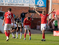 24th April 2021, Oakwell Stadium, Barnsley, Yorkshire, England; English Football League Championship Football, Barnsley FC versus Rotherham United; Michal Helik of Barnsley celebrates their win as Barnsley edge closer to securing play off positions
