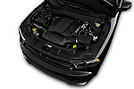 Car Stock 2017 Dodge Durango R/T-RWD 5 Door SUV Engine  high angle detail view