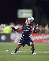 New England Revolution defender Kevin Alston (30) traps the ball. The Columbus Crew defeated the New England Revolution, 1-0, at Gillette Stadium on October 10, 2009.