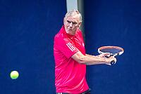 Hilversum, The Netherlands,  August 17, 2021,  Tulip Tennis Center, NKS, National Senior Tennis Championships, Men's 70+ Frank van Lerven (NED)<br /> Photo: Tennisimages/Henk Koster
