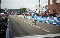 race winner: European U23 Champion Michael Vanthourenhout (BEL/Sunweb-Napoleon Games) in the lead<br /> <br /> GP Mario De Clercq 2014<br /> Hotond Cross<br /> CX BPost Bank Trofee - Ronse