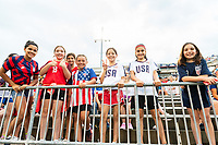 EAST HARTFORD, CT - JULY 1: Fans before a game between Mexico and USWNT at Rentschler Field on July 1, 2021 in East Hartford, Connecticut.