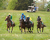 The Gwathmey field charges downhill to the last in the Gwathmey.