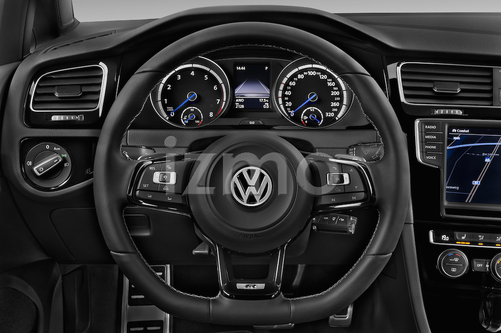 Car pictures of steering wheel view of a 2014 Volkswagen Golf R 5 Door Hatchback 4WD Steering Wheel