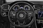 Car pictures of steering wheel view of a 2014 Volkswagen Golf R 5 Door Hatchback 4WD Steering Wheel