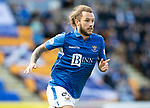 St Johnstone v Kilmarnock…31.08.19   McDiarmid Park   SPFL<br />Stevie May<br />Picture by Graeme Hart.<br />Copyright Perthshire Picture Agency<br />Tel: 01738 623350  Mobile: 07990 594431