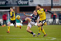 20th February 2021; Dens Park, Dundee, Scotland; Scottish Championship Football, Dundee FC versus Queen of the South; Jason Cummings of Dundee scores for 2-1 in the 51st minute