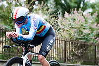 Sara Van de Vel (BEL)<br /> <br /> Women Elite Time trial from Imola to Imola (31.7km)<br /> <br /> 87th UCI Road World Championships 2020 - ITT (WC)<br /> <br /> ©kramon