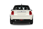 Straight rear view of a 2015 MINI Cooper Hardtop S 4 Door Hatchback Rear View  stock images
