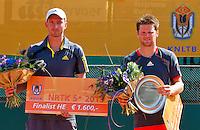 2013-08-17, Netherlands, Raalte,  TV Ramele, Tennis, NRTK 2013, National Ranking Tennis Champ,  runner up Matwe Middelkoop(L) and winner Nick van der Meer<br /> <br /> Photo: Henk Koster
