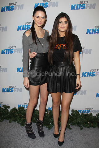 LOS ANGELES, CA - DECEMBER 03: Kendall Jenner and Kylie Jenner at day 2 of KIIS FM's 2012 Jingle Ball at Nokia Theatre L.A. Live on December 3, 2012 in Los Angeles, California. Credit: mpi21/MediaPunch inc.