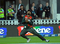 Indian captain Mahmudullah drops Finn Allen during the second International T20 cricket match between the New Zealand Black Caps and Bangladesh at McLean Park in Napier, New Zealand on Tuesday, 30 March 2021. Photo: Dave Lintott / lintottphoto.co.nz