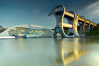 The Falkirk Wheel and the Forth and Clyde Canal, Falkirk<br /> <br /> Copyright www.scottishhorizons.co.uk/Keith Fergus 2011 All Rights Reserved