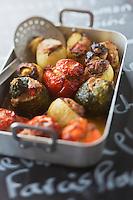 Europe/Provence-Alpes-Côte d'Azur/83/Var/Rayol-Canadel-sur-Mer: Petits farcis provençaux - Restaurant: A Maurin des Maures