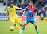 Inverness Caley Thistle v St Johnstone…27.08.16..  Tulloch Stadium  SPFL<br />Murray Davidson and Liam Polworth<br />Picture by Graeme Hart.<br />Copyright Perthshire Picture Agency<br />Tel: 01738 623350  Mobile: 07990 594431