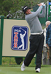 3 October 2008: Jeff Overton hits a tee shot during his second round 69 to remain in the lead at 8-under par at the Turning Stone Golf Championship in Verona, New York.