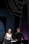 Cayetana Guillen Cuervo and Alex Ugalde during the 61st San Sebastian International Film Festival's opening ceremony, in San Sebastian, Spain. September 20, 2013. (ALTERPHOTOS/Victor Blanco)