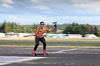 Skateboarding Videographer, Arlington Fly-In, Washington, USA.