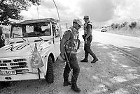 - Mozambique 1993, UN intervention after the Civil War, checkpoint of Italian army near the village of Chimoio, Sofala province  <br /> <br /> - Mozambico 1993, intervento ONU dopo la guerra civile, posto di blocco dell'esercito italiano presso il villaggio di Chimoio, provincia di Sofala