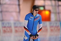 SPEEDSKATING: ERFURT: 19-01-2018, ISU World Cup, 500m Men B Division, Hendrik Dombek (GER), photo: Martin de Jong