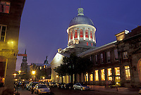 Marche Bonsecours, Montreal, Canada, Quebec, Bonsecours Market along Rue St. Paul at the Old Port (Vieux Port) at night in Old Montreal (Vieux Montreal) in Quebec.