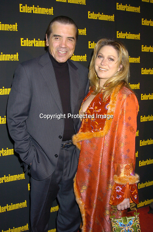 Chazz Palminteri and wife Gianna..at the 11th Annual Entertainment Weekly Oscar Party on ..Februaty 27, 2005 at Elaine's in New York City. ..Photo by Robin Platzer, Twin Images