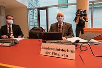 """Konstituierung des 3. Untersuchungsausschusses der 19. Wahlperiode (""""Wirecard"""") am <br /> Donnerstag den 8. Oktober 2020.<br /> Nach dem Zusammenbruch des Finanzunternehmens Wirecard hatten die Mitglieder des Deutschen Bundestag die Einsetzung des Wirecard-Untersuchungsausschuss beschlossen. Bundestagspraesident Wolfgang Schaeuble eroeffnete die konstituierende Sitzung.<br /> Im Bild: Vertreter des Bundesfinanzministeriums.<br /> 8.10.2020, Berlin<br /> Copyright: Christian-Ditsch.de"""