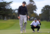 Robby Turnbull and Alec Yap during the boys' golf. 2019 AIMS games at Mount Maunganui Golf Club in Mount Maunganui, New Zealand on Thursday, 12 September 2019. Photo: Dave Lintott / lintottphoto.co.nz