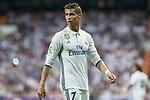 Cristiano Ronaldo of Real Madrid during the match of La Liga between Real Madrid and Futbol Club Barcelona at Santiago Bernabeu Stadium  in Madrid, Spain. April 23, 2017. (ALTERPHOTOS)