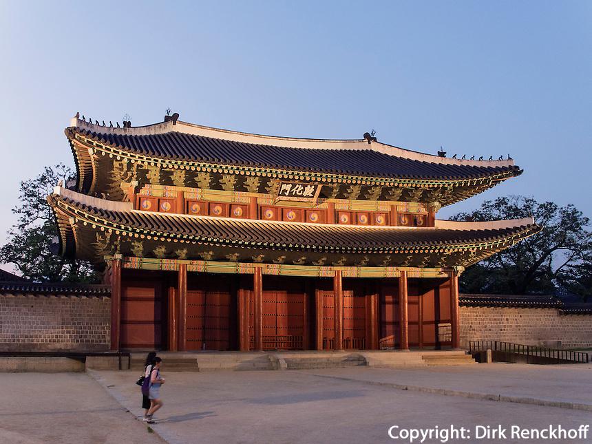 Donwhamun Tor des Palast Changdeokgung, Seoul, Südkorea, Asien, UNESCO-Weltkulturerbe<br /> Donwhamun gate of palace Changdeokgung,  Seoul, South Korea, Asia UNESCO world-heritage