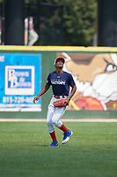 Henry Morales (11) during the Dominican Prospect League Elite Underclass International Series, powered by Baseball Factory, on August 2, 2017 at Silver Cross Field in Joliet, Illinois.  (Mike Janes/Four Seam Images)
