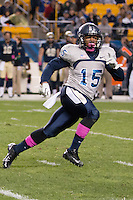 Old Dominion defensive back Aaron Evans. The Pitt Panthers defeated the Old Dominion Monarchs 35-24 at Heinz Field, Pittsburgh, Pennsylvania on October 19, 2013.