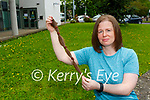Shari Murphy-McGough Killarney who cut off 13inchs of her hair in aid of the Kerry Hospice Foundation in Allure hair salon on Tuesday morning