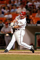 3 September 2005: Brad Wilkerson, outfielder for the Washington Nationals, at bat during a game against the Philadelphia Phillies. The Nationals defeated the Phillies 5-4 at RFK Stadium in Washington, DC. <br />