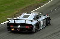The #0 Bytzek GT1 Porsche spits fire..39th Rolex 24 at Daytona, 3/4 February,2001 Daytona International Speedway  Daytona Beach,Florida,USA.©F.Peirce Williams 2001 ..
