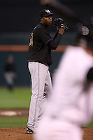 May 3, 2010:  Starting pitcher Aroldis Chapman (51) of the Louisville Bats delivers a pitch during the fourth inning of a game vs. the Buffalo Bisons at Coca-Cola Field in Buffalo, NY.   Louisville defeated Buffalo by the score of 20-7, Chapman got the win on the mound.  Photo By Mike Janes/Four Seam Images