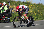 Brandon McNulty (USA) UAE Team Emirates in action during Stage 1 of the Itzulia Basque Country 2021, an individual time trial running 13.9km from Bilbao to Bilbao, Spain. 6th April 2021.  <br /> Picture: Luis Angel Gomez/Photogomezsport   Cyclefile<br /> <br /> All photos usage must carry mandatory copyright credit (© Cyclefile   Luis Angel Gomez/Photogomezsport)