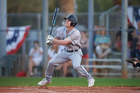Northeastern Huskies center fielder Jared Dupere (8) bats during a game against the South Dakota State Jackrabbits on February 23, 2019 at North Charlotte Regional Park in Port Charlotte, Florida.  Northeastern defeated South Dakota State 12-9.  (Mike Janes/Four Seam Images)