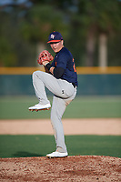 Caleb Albert (20), of Aurora, Colorado, while playing for the Astros during the Baseball Factory Pirate City Christmas Camp & Tournament on December 27, 2017 at Pirate City in Bradenton, Florida.  (Mike Janes/Four Seam Images)
