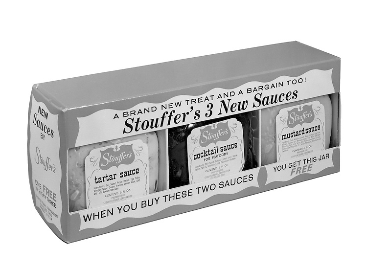Client: Stouffers Foods<br /> Ad Agency: Ketchum, MacLeod & Grove<br /> Contact: Dana Gilpin<br /> Product: Stouffers Sauces<br /> Location: Brady Stewart Studio, 725 Liberty Avenue Pittsburgh<br /> <br /> The STOUFFER'S Brand traces its roots to 1922 when Abraham and Mahala Stouffer opened a small coffee shop in Cleveland Ohio featuring delicious home-made food.