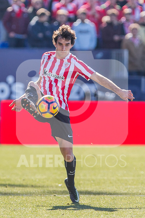 Atletic de Bilbao's Inigo Lekue during the match of La Liga between Leganes and Athletic Club at Butarque Stadium  in Madrid , Spain. January  14, 2017. (ALTERPHOTOS/Rodrigo Jimenez)