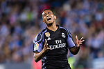 Danilo Luiz Da Silva of Real Madrid reacts during their La Liga match between Deportivo Leganes and Real Madrid at the Estadio Municipal Butarque on 05 April 2017 in Madrid, Spain. Photo by Diego Gonzalez Souto / Power Sport Images