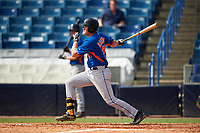 Pitcher Walker Robbins (21) of George County High School in Leakesville, Mississippi playing for the New York Mets scout team during the East Coast Pro Showcase on July 29, 2015 at George M. Steinbrenner Field in Tampa, Florida.  (Mike Janes/Four Seam Images)