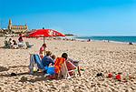 Spanien, Andalusien, Provinz Cádiz, Chipiona: Badeort, Strand an der Costa de la Luz | Spain, Andalusia, Province Cádiz, Chipiona: beach resort at Costa de la Luz