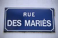 Europe/France/Pays de la Loire/85/Vendée/Ile d'Yeu/Port-Joinville: Plaque de la rue des Mariés