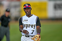 Pioneer League All-Star Jasrado Chisholm (7) of the Missoula Osprey before the game against the Northwest League All-Stars at the 2nd Annual Northwest League-Pioneer League All-Star Game at Lindquist Field on August 2, 2016 in Ogden, Utah. The Northwest League defeated the Pioneer League 11-5. (Stephen Smith/Four Seam Images)
