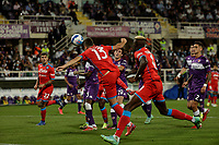 3rd October 2021; Franchi Stadium, Florence, Italy; Serie A football, Fiorentina versus Napoli : Amir Rrhamani of Napoli shoots and scores  for 2 -1- in  50th minute