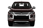 Car photography straight front view of a 2020 Mitsubishi L200 Invite 4 Door Pick-up Front View