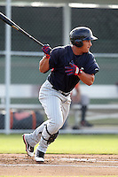 Minnesota Twins outfielder Oswaldo Arcia #16 during an Instructional League game against the Baltimore Orioles at the Buck O'Neil Complex on October 8, 2011 in Sarasota, Florida.  (Mike Janes/Four Seam Images)